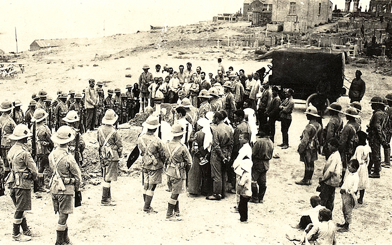 Funeral of British soldiers killed at Baku, August 1918