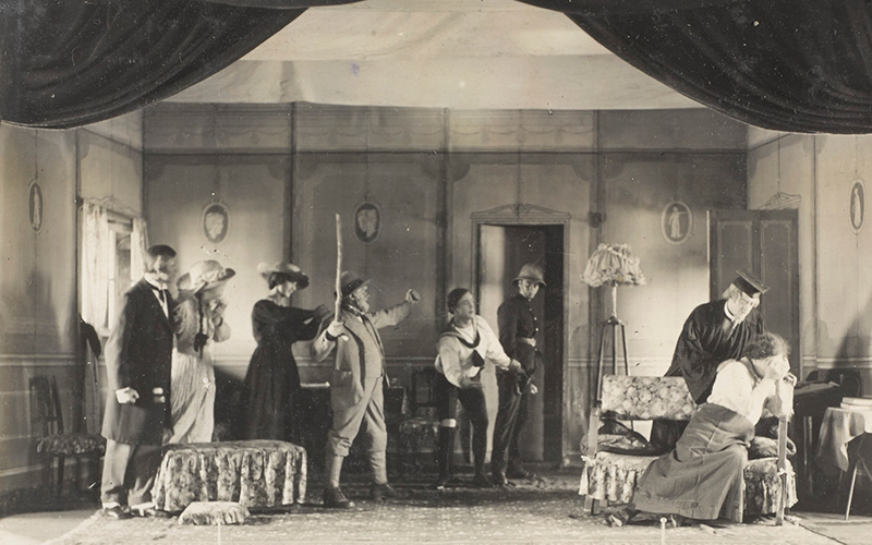 A scene from 'The New Boy', 1918