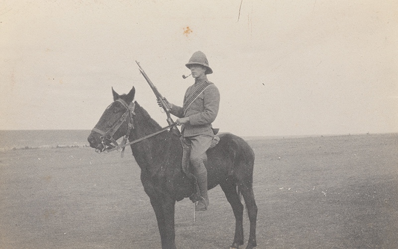 Lieutenant Bowcher Clarke, Worcestershire Company, 5th Mounted Infantry, in South Africa, 1901
