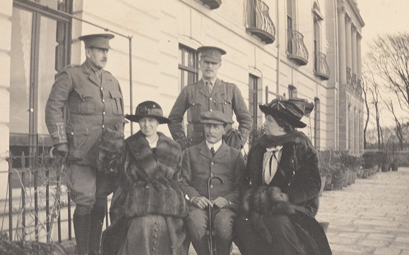 Captain Bowcher Clarke (standing right) with his family during leave in Plymouth, November 1914