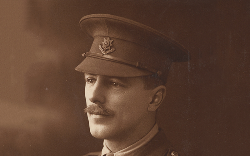 Captain Bowcher Clarke, 2nd Battalion The Worcestershire Regiment, November 1914
