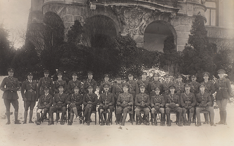 Clarke and fellow officers of the Army of the Rhine, 1919