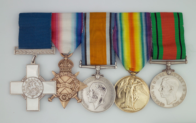 George Cross medal group awarded to Lieutenant Bernard Ellis, 1/5th Battalion, The Buffs (East Kent Regiment)