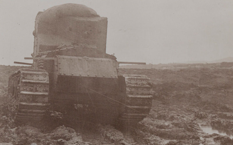 A whippet tank near Morcourt, August 1918