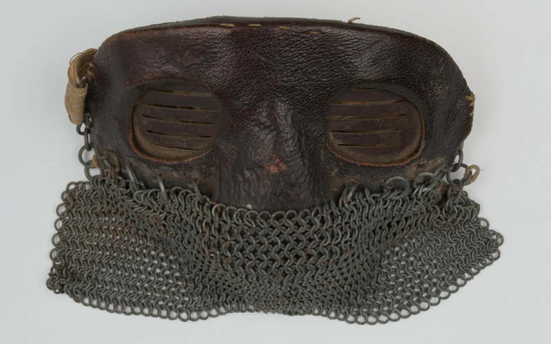 Protective face mask for tank crew, 1917