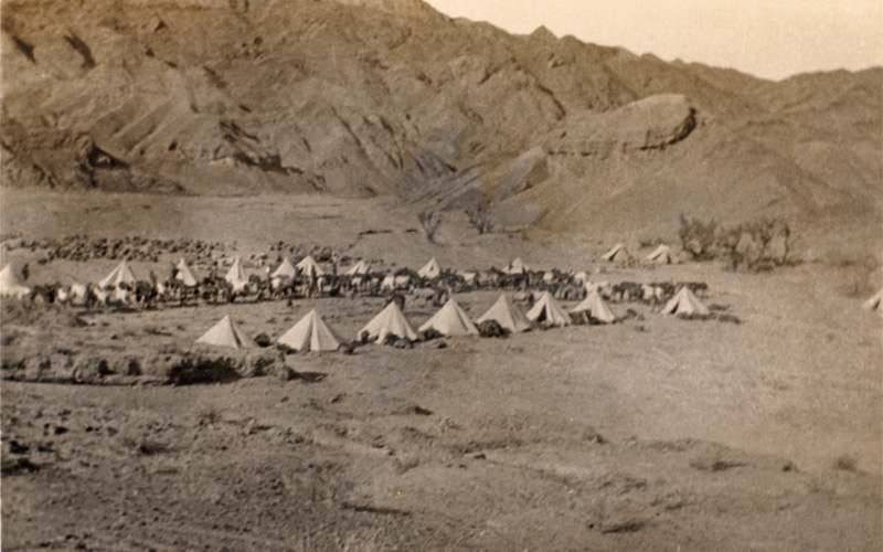 A British cavalry camp, part of the eastern Persian cordon, 1916