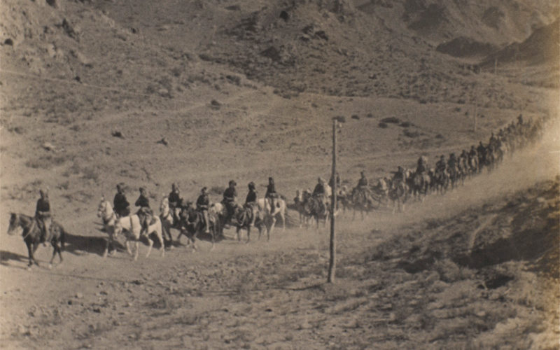 Cavalry patrolling in eastern Persia, 1916