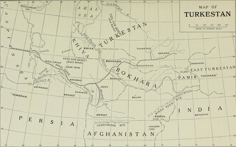 Map of Turkestan
