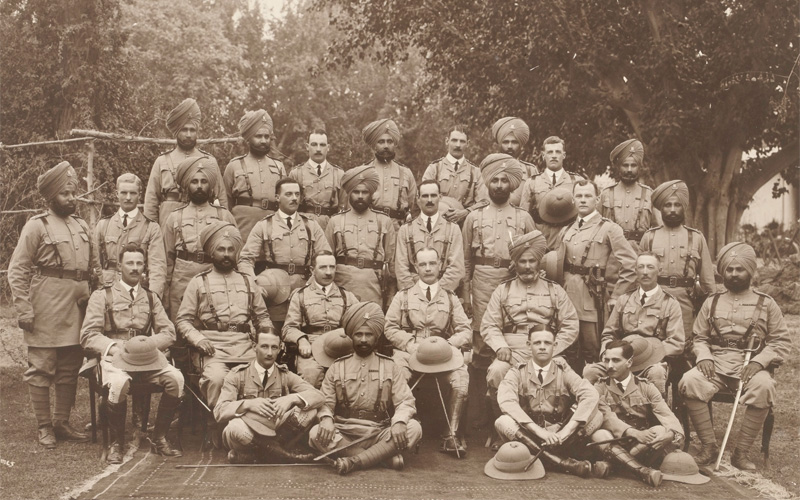 Officers of the 14th King George's Own Ferozepore Sikhs, Peshawar, 1913