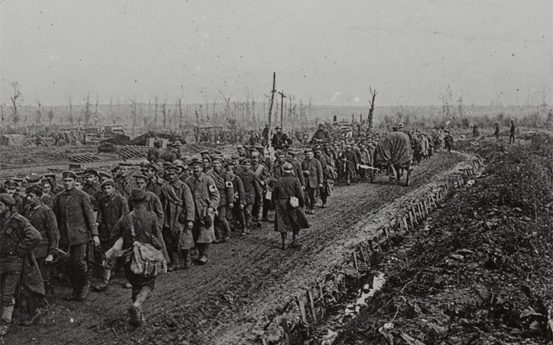 'Prisoners captured in the final rout of the German armies on the Sambre', November 1918
